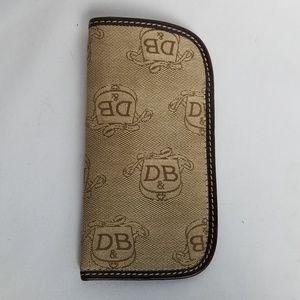Dooney & Bourke leather trim canvas monogram case